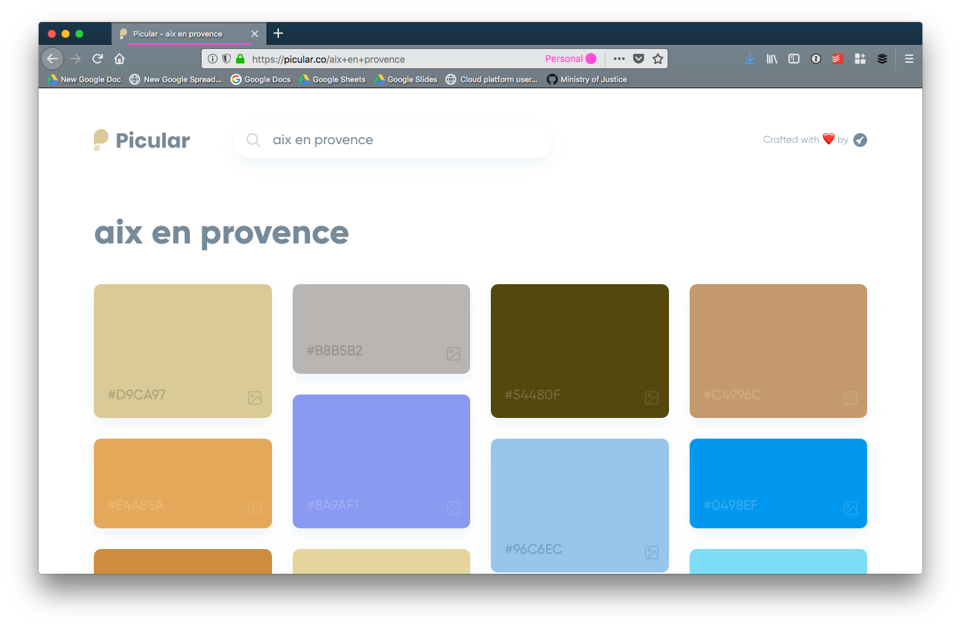 "Result of a colour search for the term ""aix en provence"""